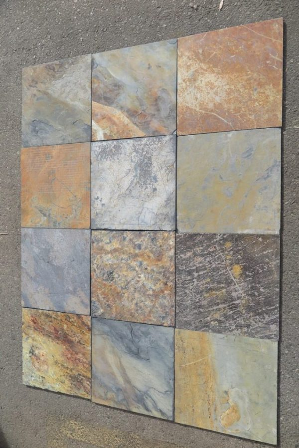 African Multi Color Slate rotated